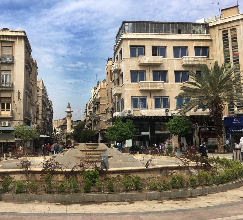 Un des vieux marchés en Syrie image libre de droits