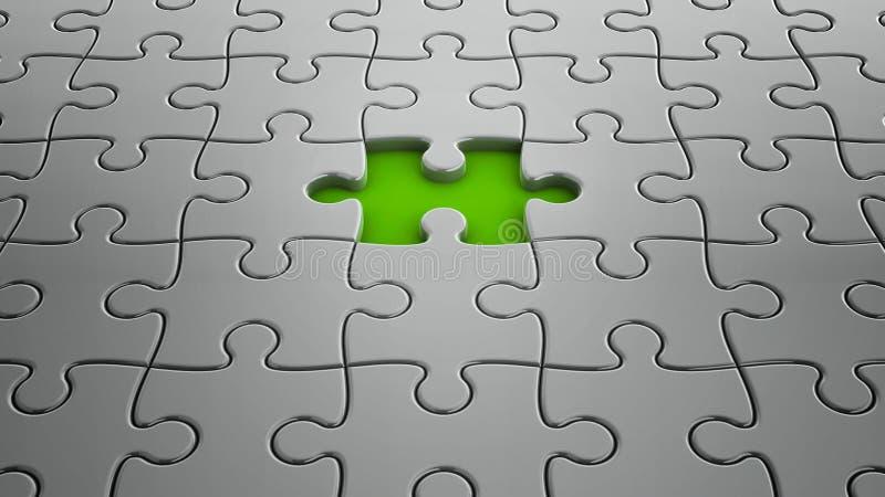 Un desaparecidos del pedazo del rompecabezas ilustración del vector