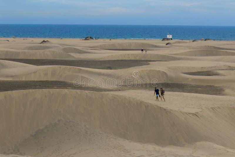 Un deserto dal mare fotografia stock libera da diritti