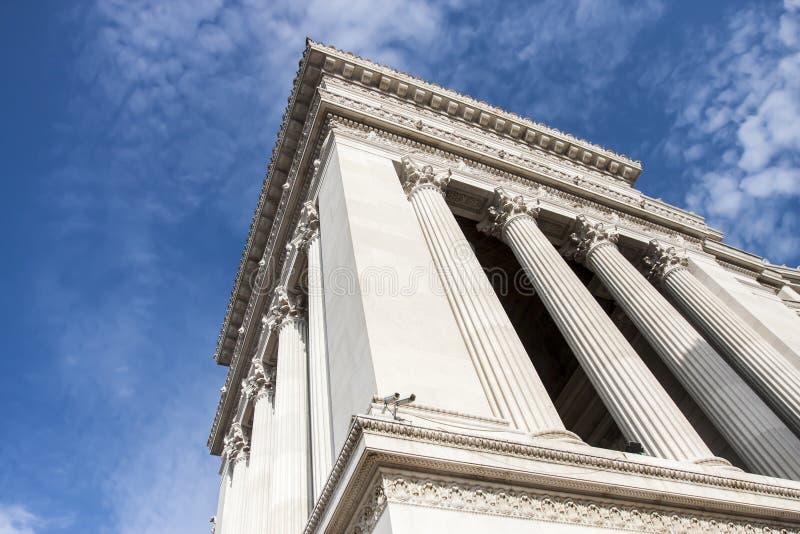Un dettaglio del monumento gigantesco dell'altare della patria (vittoriano) a Roma (Italia) fotografia stock libera da diritti