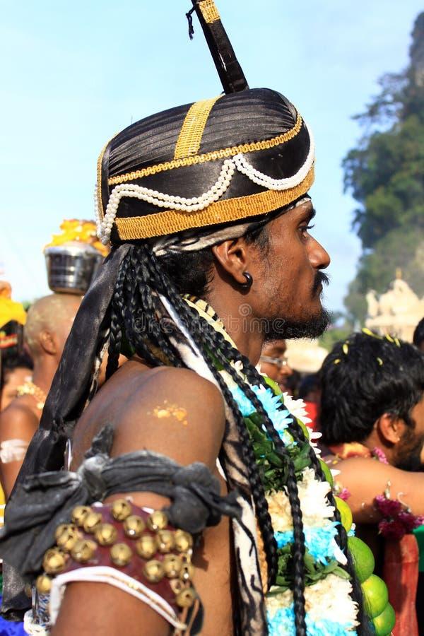 Un devoto nel festival indù di Thaipusam. immagine stock
