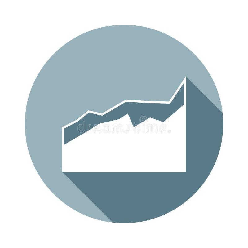 un diagramicon comparativo en sombra larga plana Uno del icono de la colección del web se puede utilizar para UI/UX libre illustration