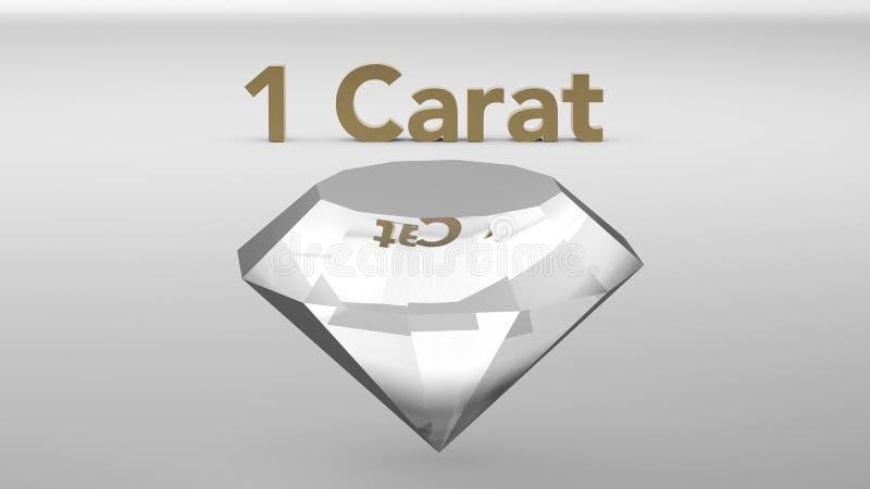 Un diamante del quilate ilustración del vector