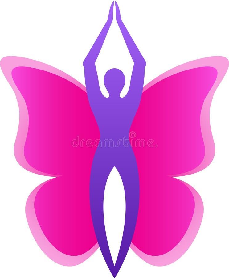 Logotipo de la mariposa stock de ilustración