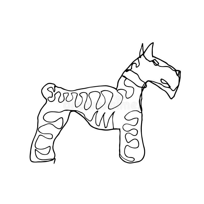 Un dibujo lineal continuo Perros Estilo del minimalismo stock de ilustración