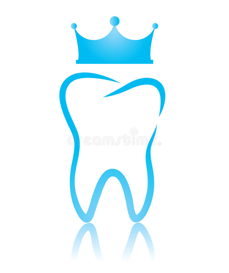 Un diente dental del símbolo, un diente del rey libre illustration