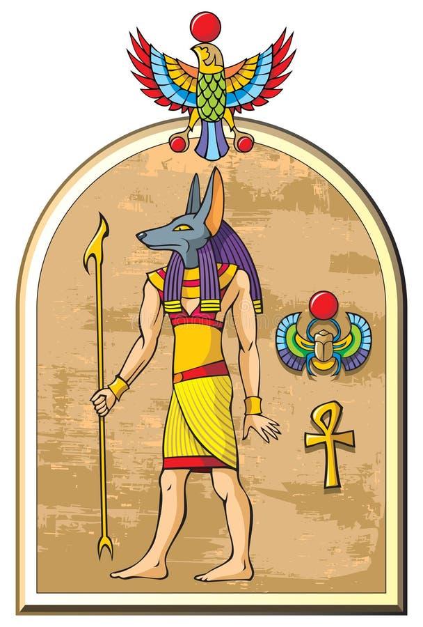 Un dieu égyptien Anubis illustration libre de droits