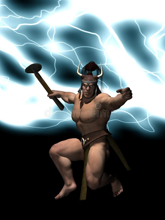 Download Un Dieu De Thor De Tonnerre Illustration Stock - Image: 12713710