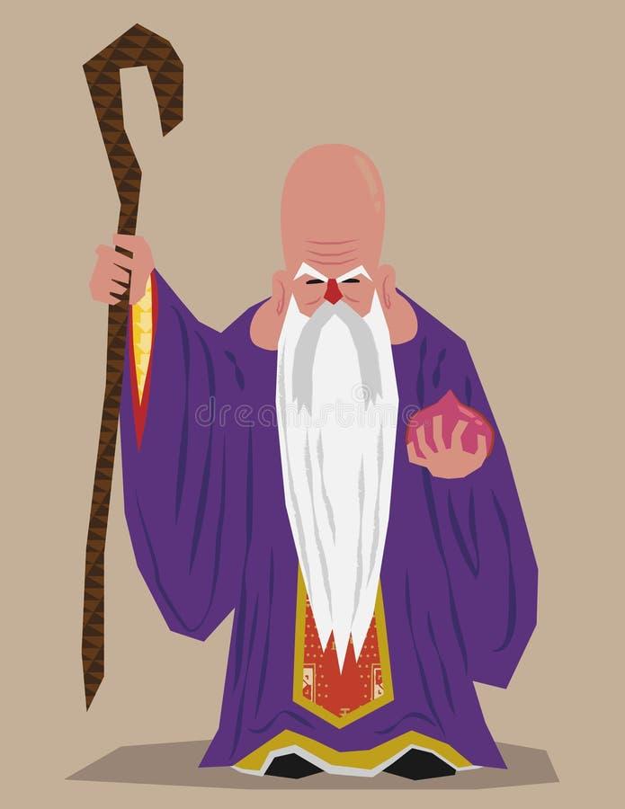 Un dieu dirigé grand de bonheur, de richesse et de longue vie illustration libre de droits