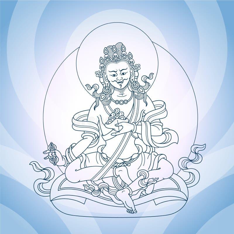 Un dieu oriental illustration libre de droits