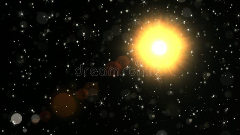 Un dieu soleil de lumière photos stock