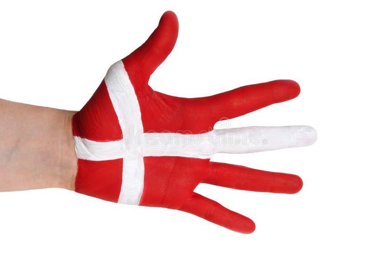 Una mano danese fotografia stock libera da diritti