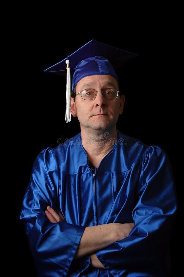 Un diplômé plus âgé images stock