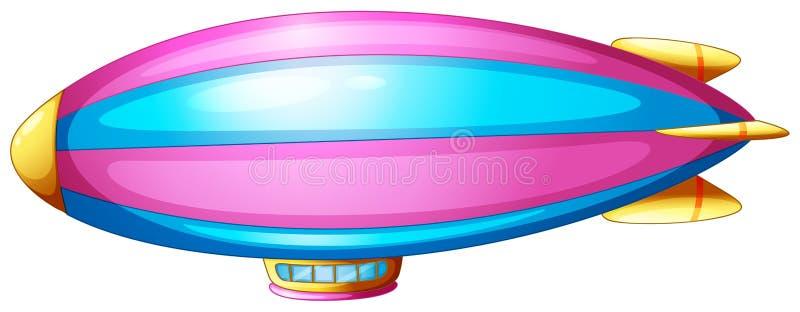 Un dirigeable souple illustration de vecteur