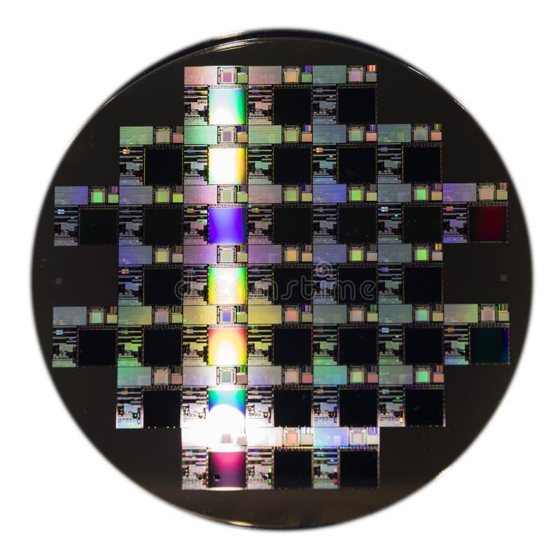 un disco del wafer a semiconduttore fotografia stock libera da diritti