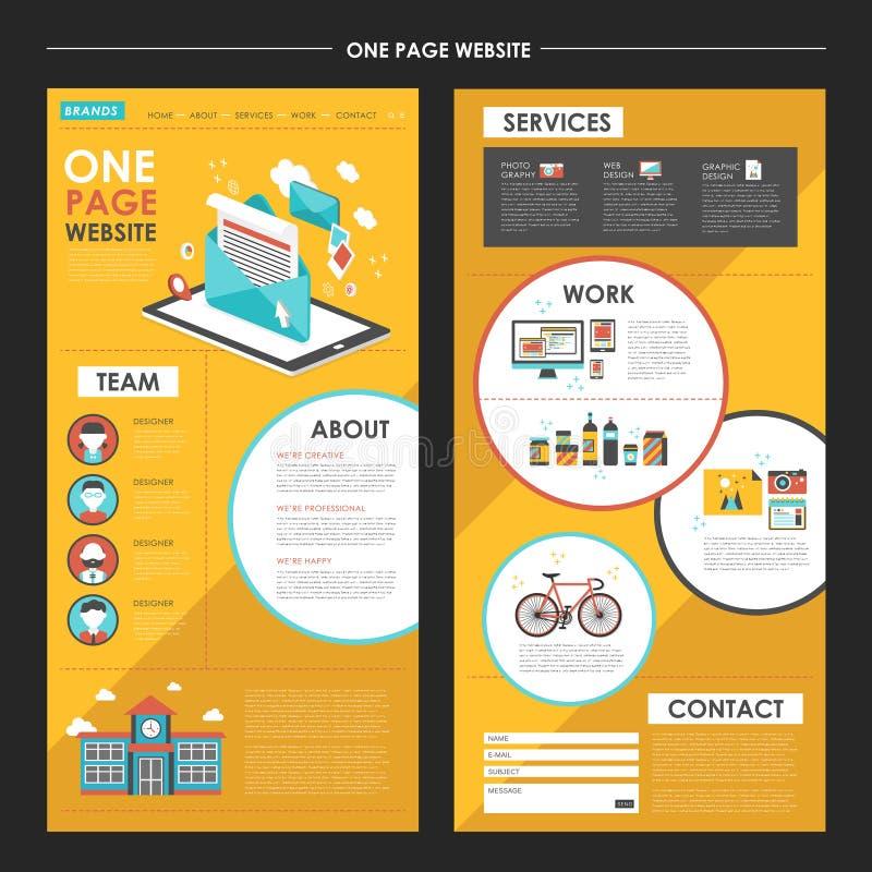 Un diseño atractivo de la plantilla del sitio web de la página con el elem del hoja informativa libre illustration
