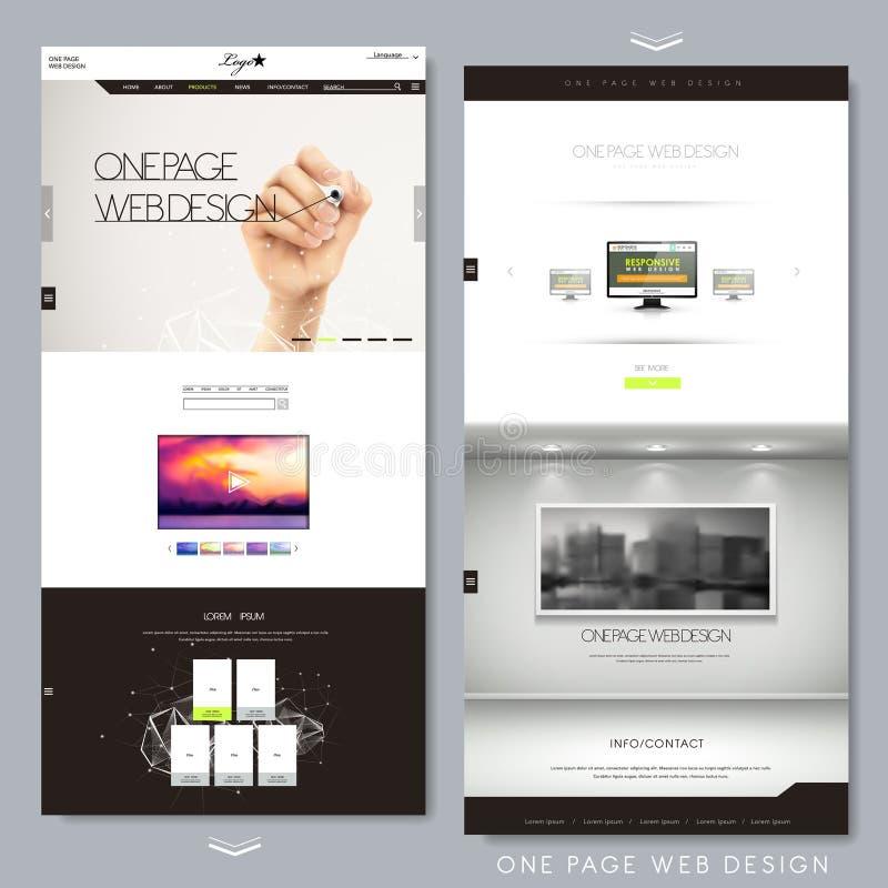 Un diseño creativo moderno del sitio web de la página ilustración del vector