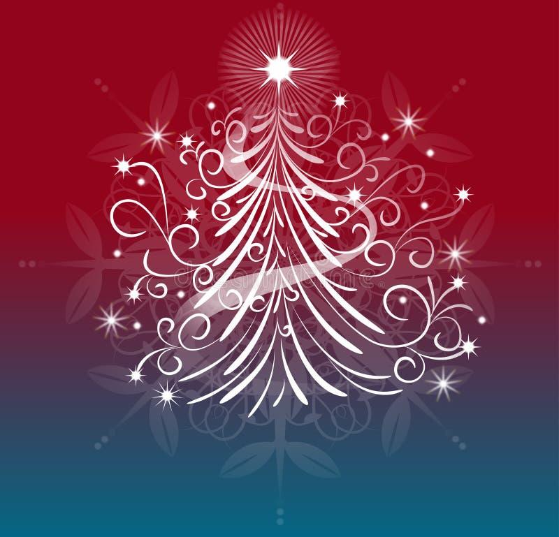 Un diseño elegante del árbol de navidad imagen de archivo libre de regalías