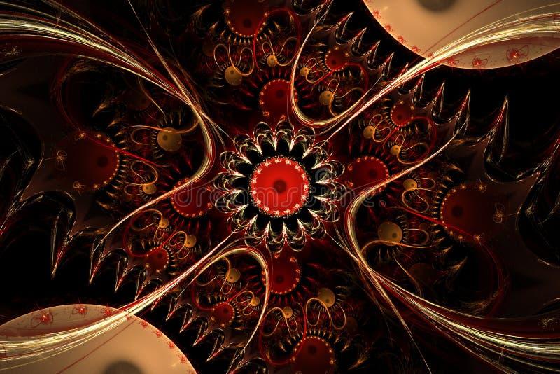 Un diseño generado por ordenador abstracto del fractal stock de ilustración
