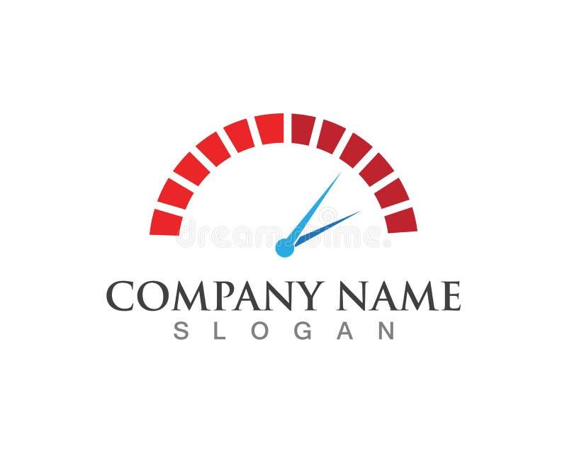 Un diseño más rápido del ejemplo del icono del vector de Logo Template libre illustration