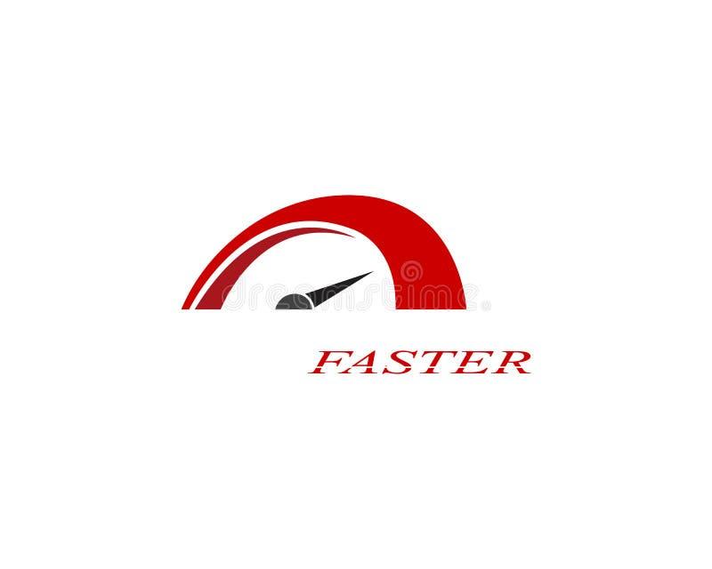 Un diseño más rápido del ejemplo del icono del vector de Logo Template ilustración del vector