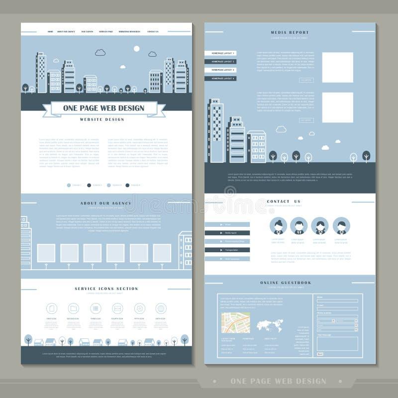 Un diseño precioso de la plantilla del sitio web de la página libre illustration