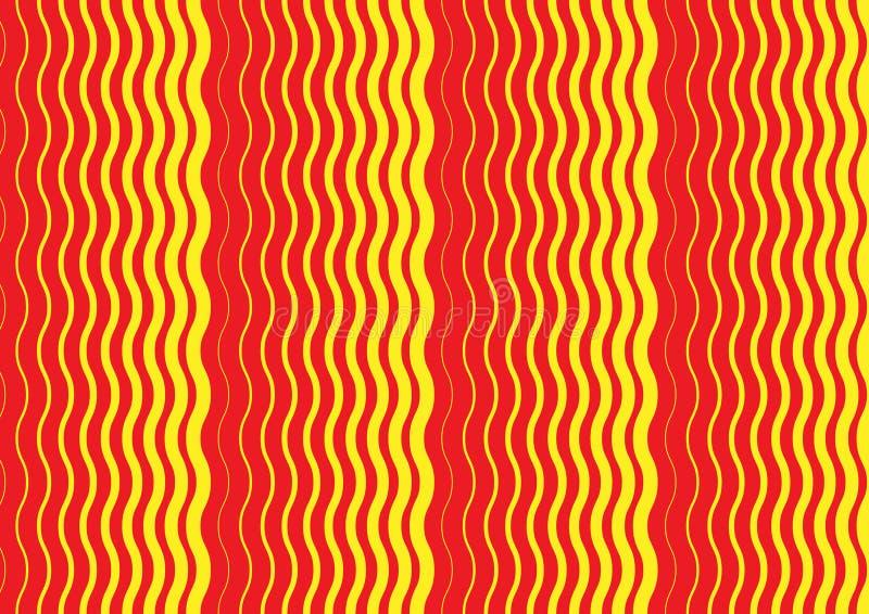Un diseño rojo del extracto y amarillo ondulado de la cubierta del modelo libre illustration