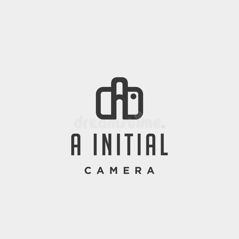 Un dise?o inicial del vector de la plantilla del logotipo de la fotograf?a libre illustration