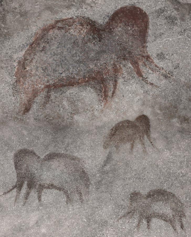 Un disegno dei mammut in un monastero fotografie stock libere da diritti