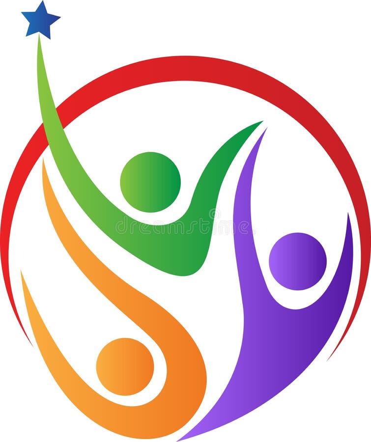 Logo della gente illustrazione di stock