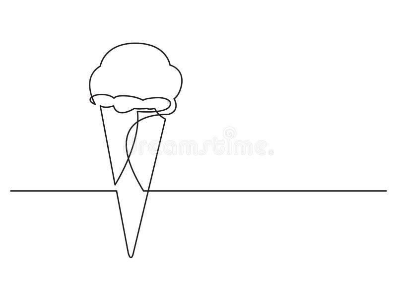 Un disegno a tratteggio dell'oggetto isolato di vettore - cono gelato royalty illustrazione gratis