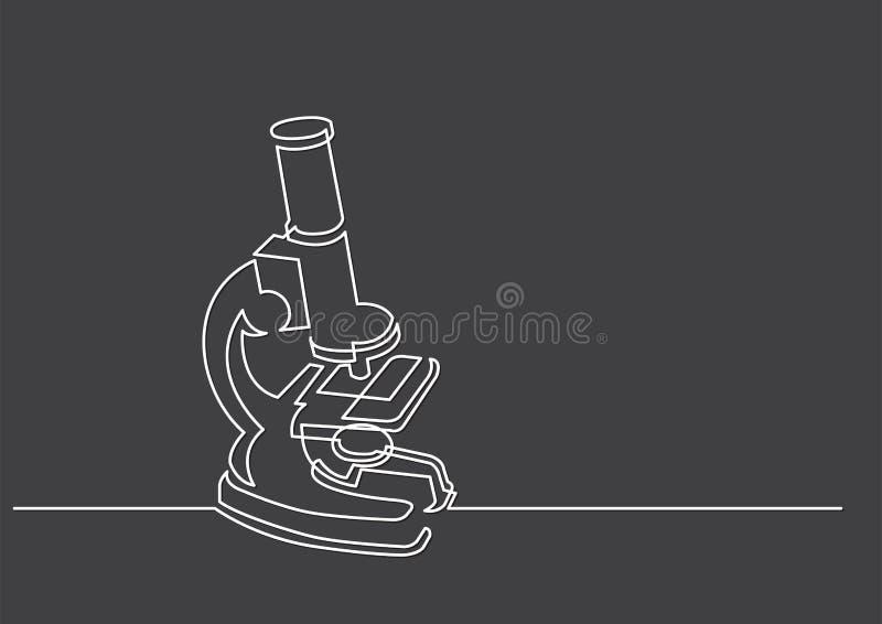 Un disegno a tratteggio dell'oggetto isolato di vettore - microscopio scientifico illustrazione di stock