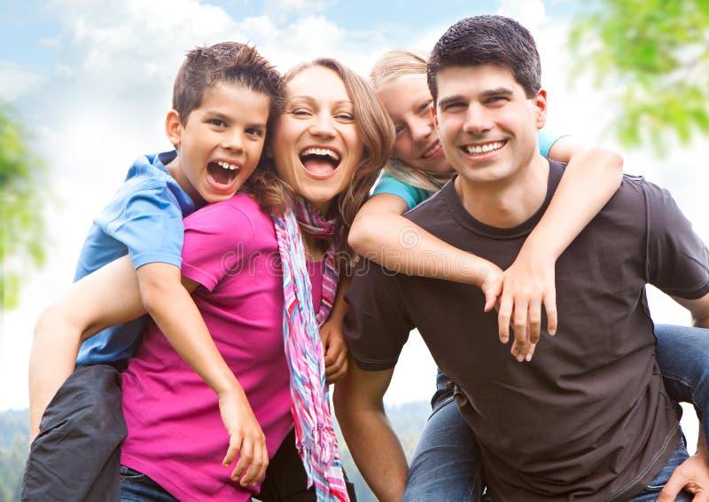 un divertimento delle 7 famiglie immagini stock