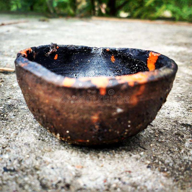 Un Diya tradizionale (lampada) fotografie stock libere da diritti
