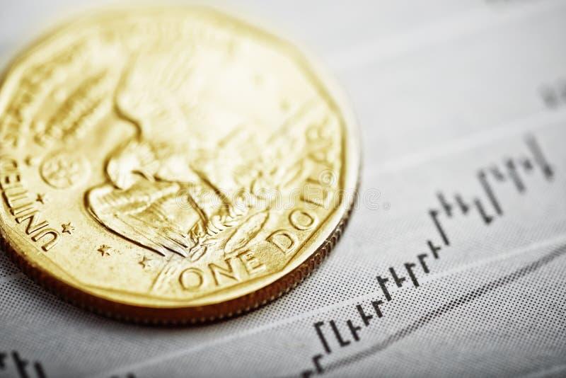Un dollar sur le diagramme photo stock