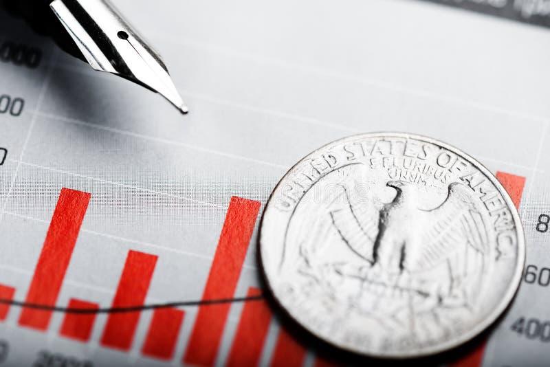 Un dollar sur le diagramme photos stock