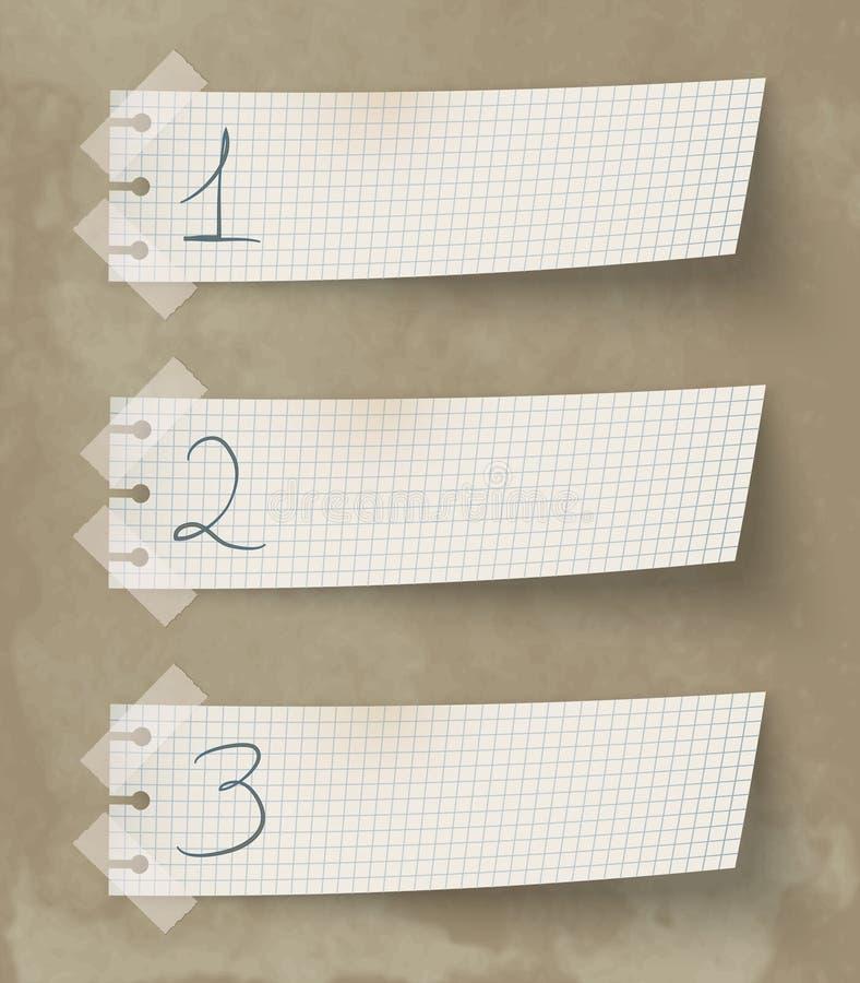 Un dos tres ilustración del vector