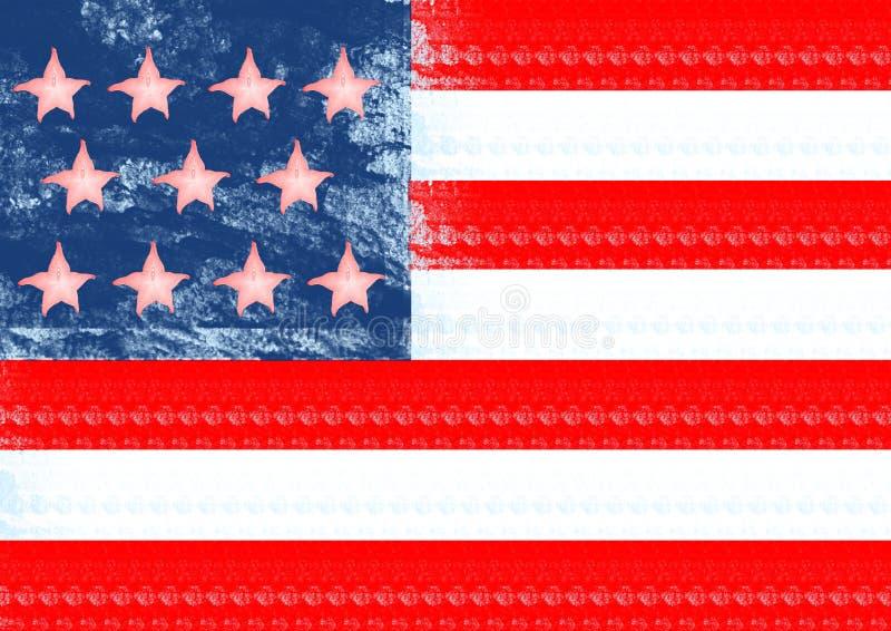 Un drapeau alternatif Conception moderne Collage d'art contemporain images stock