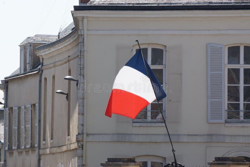 Un drapeau français - vue de face image libre de droits