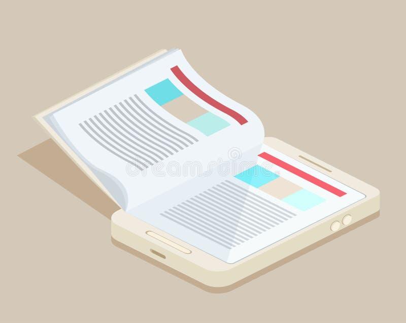 Download Un eBook futé de téléphone illustration de vecteur. Illustration du internet - 56476013