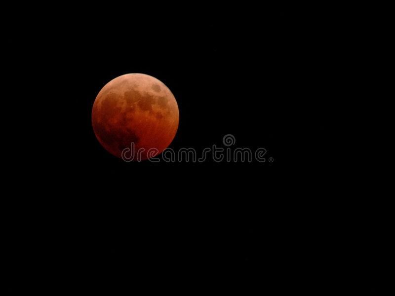 Un'eclipse lunare di 10-27-04 fotografie stock libere da diritti