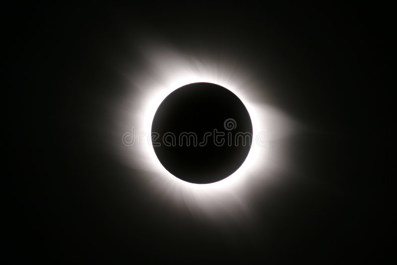 Un'eclipse solare totale del 29 marzo 2006 immagini stock