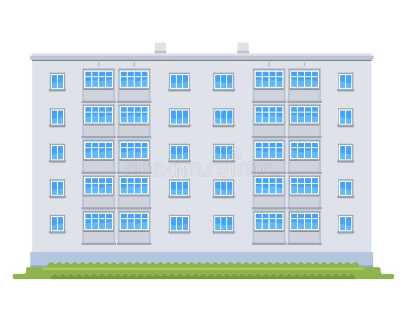 Un edificio de la Cinco-historia stock de ilustración