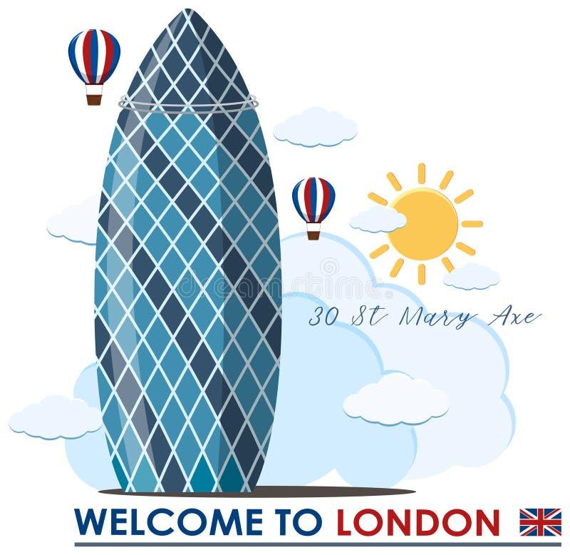 Un edificio del pepinillo en Londres libre illustration