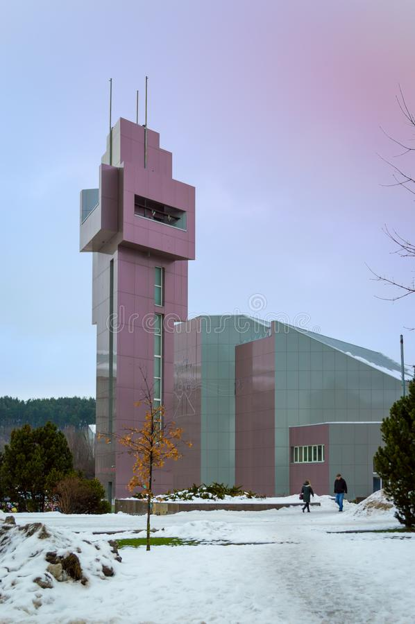 Un edificio moderno colorido de la arquitectura foto de archivo