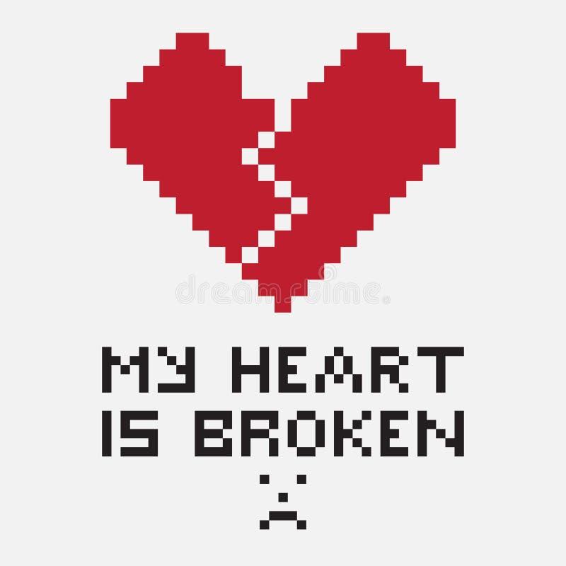Un ejemplo bajo la forma de corazón quebrado pixelated libre illustration