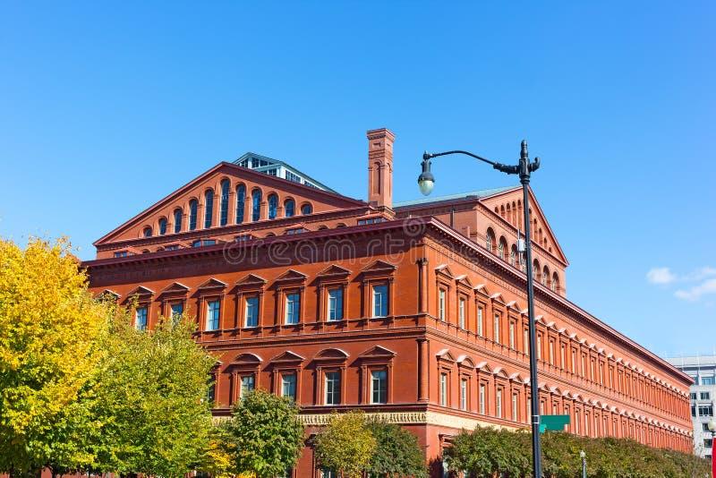 Un ejemplo de la arquitectura italiana del renacimiento del renacimiento en estructura constructiva nacional del museo en Washing imágenes de archivo libres de regalías