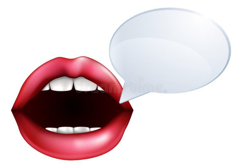 El hablar de la boca o de los labios ilustración del vector