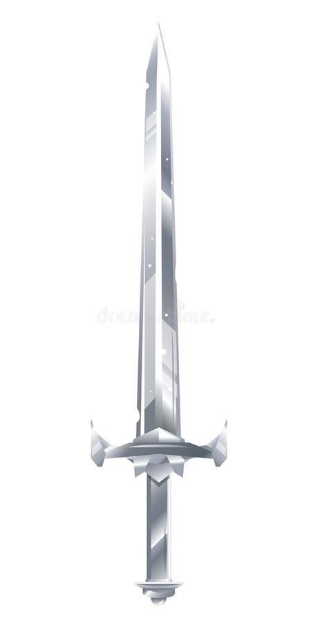 Un ejemplo de la espada del metal ilustración del vector
