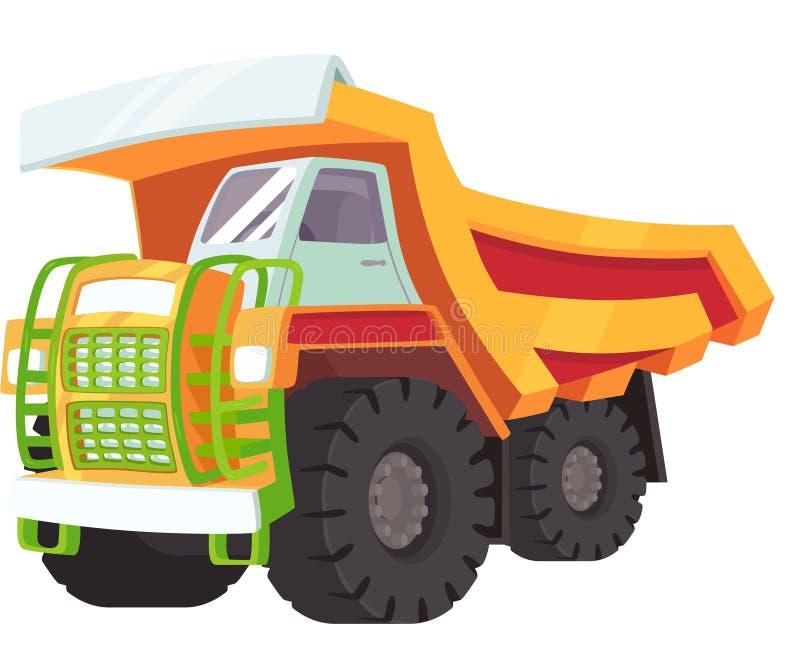 Un ejemplo de un transportador amarillo grande ilustración del vector